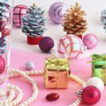 手作りクリスマス。野山で拾った松ぼっくりで子供でも作れるツリー